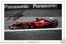 Fernando Alonso  SIGNED 6x4 PHOTO F1 FORMULA ONE FERRARI AUTOGRAPH