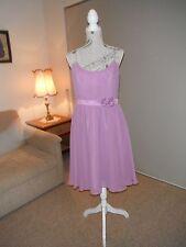 Designer Alfred Angleo Mauve Pastel Ladies Cocktail Dress Size 12