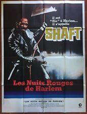 Affiche LES NUITS ROUGES DE HARLEM Shaft ROUNDTREE Blaxploitation 120x160cm