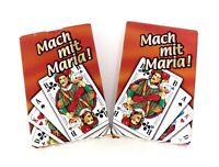 Skat Spiel mit französischem Blatt-32 Blatt Werbung Mariacron-2x Spiele im SET