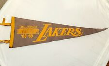 68 - 69 LOS ANGELES LAKERS Vintage Felt Pennant from The Fabulous Forum