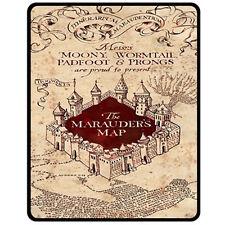 "Harry-Potter-The-Marauders-Map Large/Medium Fleece Blanket (50"" x 60"")-NEW"