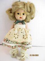 "Vintage 1950's 8"" Hard Plastic Walker Doll Sleep Eyes, Molded Lashes, Unmarked"