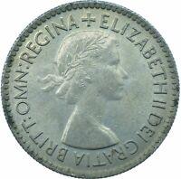 1953 LUCKY SIXPENCE PRE-DECIMAL / ELIZABETH II. / UNCIRCULATED   #WT21969