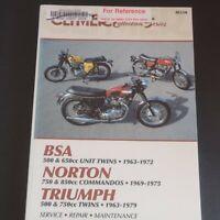 BSA Norton Triumph manual service repair maintenance 1963-1979 Clymer M330 cycle
