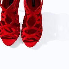 Zara rouge sandales talons hauts 4 37 neuf
