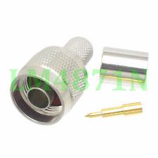 10pcs Connector N male plug crimp RG8 RG213 RG165 LMR400 7D-FB cable straight