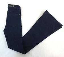 NWT DL 1961 Women's Dark Wash Trimotone Flare Denim Jeans 25 x 34
