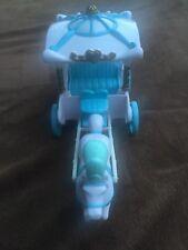 Disney Princess Vintage Polly Pocket Cinderella Carriage Horse Blue White Gold