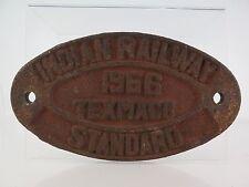 RA09 - PLACA FERROVIARIA - INDIAN RAILWAY 1966 TEXMACO STANDARD