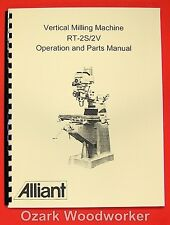 Alliant Vertical Milling Machine Rt-2S, Rt-2Tv Operator & Parts Manual 0006