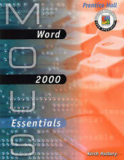 MOUS Essentials: Word 2000 with CD, Mulbery, keith, Excellent Book