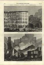 1868 grande incendio a Chicago Lake Street a nord e sud