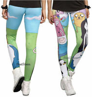 NEW Adventure Time with Finn and Jake Marceline Leggings Yoga Pants Adult L-XL
