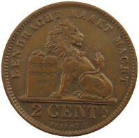 BELGIUM 2 CENTIMES 1912  #kt 545