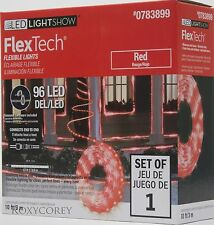 Gemmy Led Lightshow 10 ft 96 Led Red Flextech Flex Tech Flexible Lights Nib