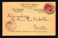 Finland 1904 Postcard Helsingfors to Orimattila - Z18072