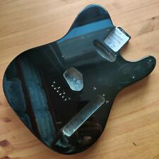More details for b-stock guitar body basswood tele telecaster style black gloss 44mm deep #2