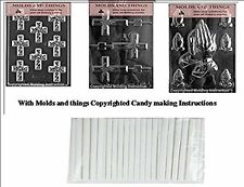 Assorted Praying Hands chocolate candy mold & Cross Chocolate candy mold- 3 set