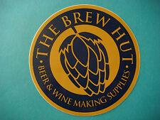 Beer STICKER >~*~< The BREW HUT ~ Wine & Homebrewing Supplies ~ Aurora, COLORADO