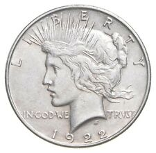 Choice AU/UNC 1922 Peace Silver Dollar - 90% Silver *992