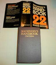 MACHINIST 22nd REVISED EDITION HANDBOOK - EXCELLENT