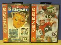 Troy Aikman + Quarterback NFL Football  - Sega Genesis Working Tested 2 Game Lot