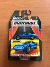 BEST OF MATCHBOX LAMBORGHINI MIURA P400S NEW WITH COLLECTOR BOX