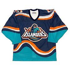 Vtg Rare NHL New York Islanders Fisherman Authentic CCM Hockey Jersey. Size 48