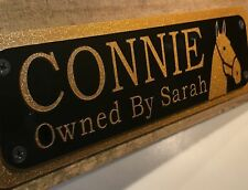 Tack Sign Horses/Pony's Name Plate Plaques for Stable Door Custom To Your Design