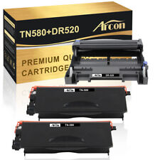 2xTN580 Toner+ 1xDR520 Compatible for Brother DCP-8065DN 8380DN HL-5140 5240