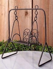 Miniature Dollhouse FAIRY GARDEN Furniture ~ Rustic Iron Swing ~ NEW