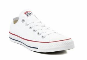 Converse All Star Lo Top Mens & Womens Canvas Chuck Taylor Trainers Shoes WHITE