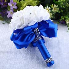 Crystal Rose Pearl Bridesmaid Wedding Bouquet Bridal Artificial Silk Flower Uk