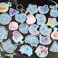 Key Chain Charms Mold Kawaii Strawberry Shaker Silicone Resin DIY Shaker N8O6