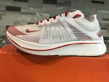 NEW NIKE MENS SZ 9.5 NIKE ZOOM FLY SP RUNNING SHOES AJ9282 100 WHITE-RED-ROUGE