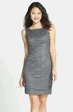 Adrianna Papell Sequin Lace Dress 10 NWT $188.00