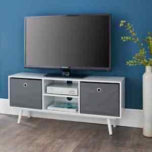 Malmo White Plasma TV Unit Entertainment Cabinet Drawer Shelf Living Room