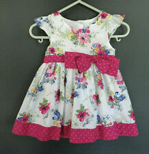 Baby Girl's Lovely Floral Dress with Bow - Size 000 - Brand: Pumpkin Patch