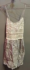 $70 NWT Lovemarks Brand Blue White Lace Top Cute Dress  Size S