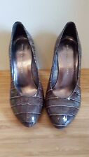 MARC BY MARC JACOBS GREEN PATENT LEATHER CROCODILE HEELS PUMPS SIZE 36.5 US 6
