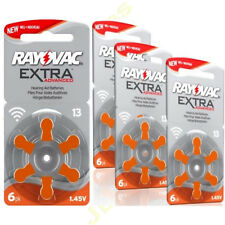 24  RAYOVAC 13 DA13 A13 ORANGE Hearing Aid Batteries  ZA13 13au AC13E ME8Z L13ZA