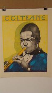 Vintage Jazz Musician John Coltrane Color Drawing