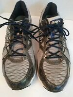 Asics Gel Surveyor Duomax Running Shoes Sneakers Gray Black Gray Mens Size 15