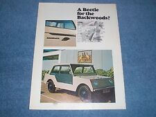 "1969 Volkswagen Thing Vintage Article ""A Beetle for the Backwoods?"""
