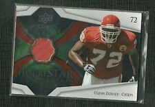 GLENN DORSEY 08 UD ICONS FUTURE STAR MATERIALS JERSEY ROOKIE KC CHIEFS