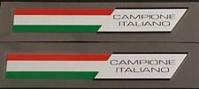 """Made in Italy """"Campione Italiano"""" Decals - 1 Pair (sku 10417D)"""