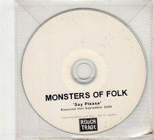 (HC764) Monsters Of Folk, Say Please - 2009 DJ CD