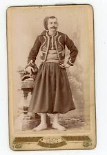 Photo CDV c.1900 - un zouave pose pour Lanzaro à Alger Algérie