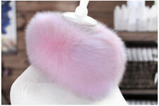 New Real Fox Fur Collar Scarf Neck Warmer Scarves Jacket Coat